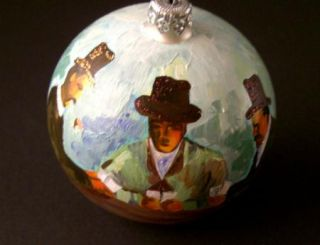 CEZANNES THE CARD PLAYER CHRISTMAS ORNAMENT MIA