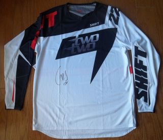 Chad Reed Signed Autographed Shift Two Two Motorsports Jersey Large 22