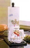 New FAT CHEF PAPER TOWEL HOLDER & NAPKIN French Kitchen