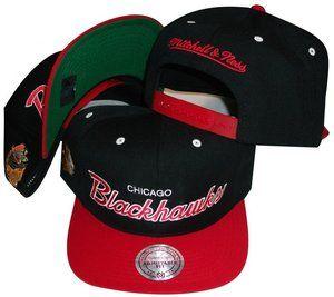Chicago Blackhawks Snapback Hat Mitchell Ness ND51Z