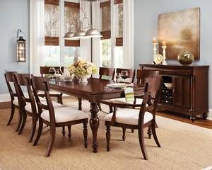 Cherry Wood Dining Room Furniure able 6 Chairs Se