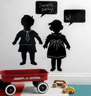 Vintage Kids Children Chalkboard Black Board Chalk Mural Instant