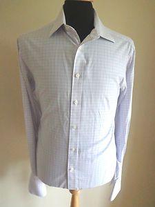 Charles Tyrwhitt Shirt White Blue Pink Check Size 15 5 RRP £80 Non