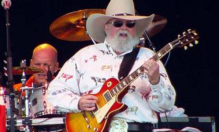 have Mr. Charlie Daniels. Look at how that color lights up the stage