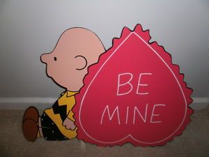Charlie Brown Valentines Day Yard Art Decoration