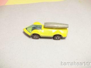 Hot Wheels 1973 Red Line Rocket Bye Baby yellow RARE HK CAST