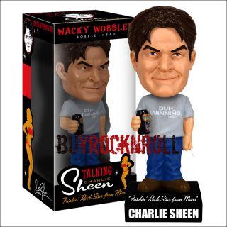 RARE Funko Charlie Sheen Talking Wacky Wobbler (Bobble BobbleHead