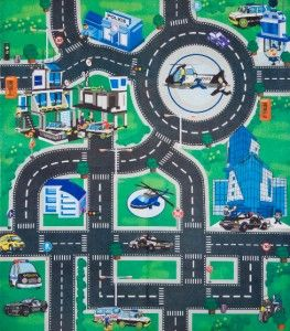 Kids Childrens Boys Playmat Mat Rug Car & Road Non Slip Roll Up Xmas