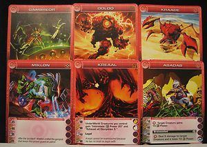 Chaotic Trading Card 6 Creatures Cards Mint Unused Codes