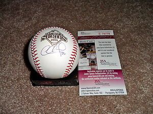 Chase Utley Philadelphia Phillies Signed 2008 World Series Baseball