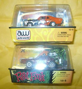 R10 Rat Fink 77 Pontiac Firebird HO Scale Slot Car & 69 CHEVY NOVA SS