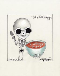Dearies 5 Comic Art Skeleton Skelly Soup Gothic Fantasy Cartoon