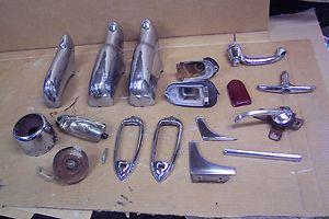 50 1950 49 1949 Chevy Chevrolet car parts lot chrome door handles
