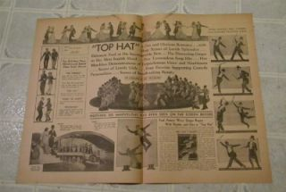 FRED ASTAIRE GINGER ROGERS TOP HAT PRESSBOOK W HERALD & TABLOID 3 DAY