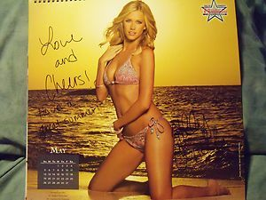 Dallas Cowboys Cheerleaders DCC 2013 Swimsuit Calendar signed