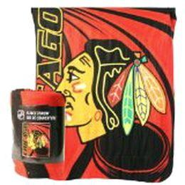 CHICAGO BLACKHAWKS NHL Hockey SOFT Fleece Throw Blanket NEW  NICE