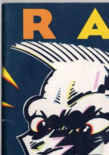 Raw Magazine Vol 1 3 Gary Panter Maus Insert 1981 RARE