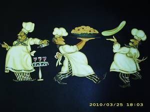 Fat Chef Kitchen Wallies Wallpaper Border Cut Outs