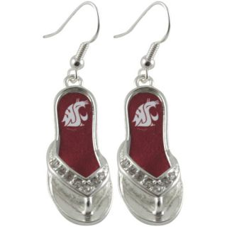 click an image to enlarge washington state cougars flip flop earrings