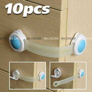 10x Bendy Door Drawers Safety Lock for Child Kids Baby