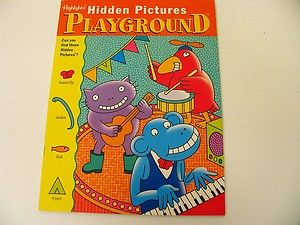 Playground Hidden Pictures Highlights Kids Puzzle Book Search