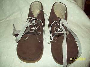 Girls Size 9 Cherokee Jenna Genuine Brown Suede Boots Shoes