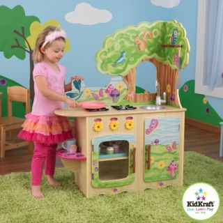 New Childrens Kids Wood Wooden Pretend Play Fairy Woodland Kitchen