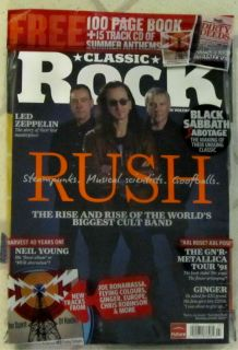 Classic Rock CD July 2012 Rush Harvest Neil Young Black Sabbath Joe