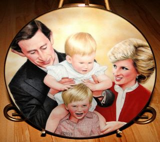Plate Collection Family Portrait Prince William Prince Harry