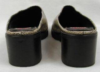 Chilis Snake Skin Fashion 8 5 Eros Clogs Shoes Slide On