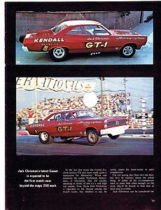 NHRA AHRA Drag Racing Mercury Comet Cyclone Jack Chrisman GT 1