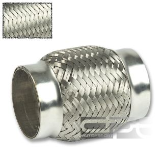 25x4 2 25 Flex Pipe Stainless Steel Double Braided Exhaust Extender
