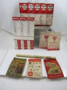 Vintage Flying A Lot Promos Pencil Oil Change Stickers Gas Oil