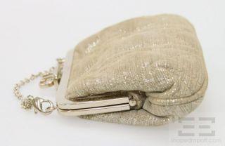Christian Dior Gold Silver Metallic Goatskin Suede Dior Babe Vanity