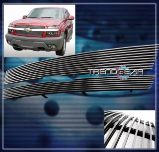 01 06 Chevy Avalanche 1500 2500 Front Upper Billet Grille Insert 02 03