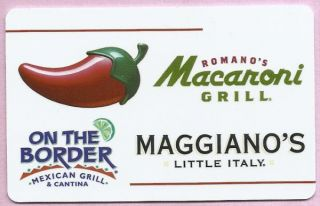Chilis Macaroni Grill Collectible No Value Gift Card Buy 6 SHIP Free