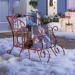 Santa Claus Sleigh Christmas Decoration Holiday Yard Outdoor Decor