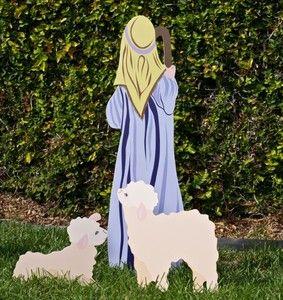 Nativity Set Outdoor Nativity Scene Christmas Display Shepherd Sheep