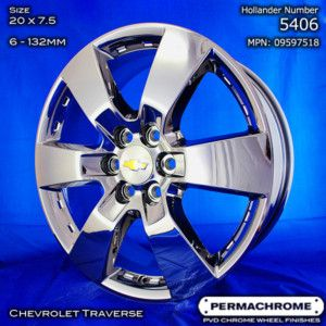 Chevrolet Traverse 20 Chrome Wheels PVD Exchange