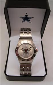 RARE NFL Dallas Cowboys Watch Silver Tone Collectible