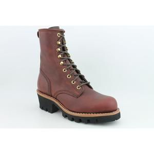 CHIPPEWA L73026 w 8 Logger Womens Size 8 Brown Wide Boots Work Wide