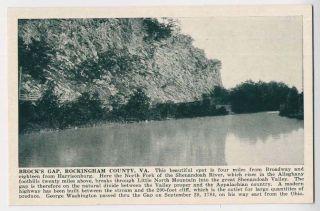 VA Brock's Gap SPH 164 Postcard Shenandoah Publishing House