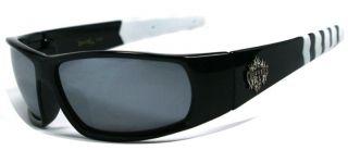 Choppers Bikers Mens Sunglasses   Black (White) / Black Lens C45