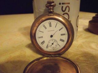 Antique Waltham Pocket Watch w Original Box Estate Pocket Watch No