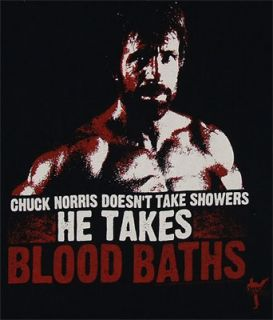 Chuck Norris Takes Blood Baths Chuck Norris T Shirt