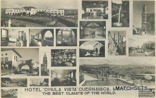RPPC MEXICO Hotel Chula Vista Cuernacvaca Multi View POSTCARD