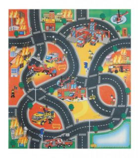 Play Mat Road Rug Car Boys Kids Children Grip Fire Engine Construction