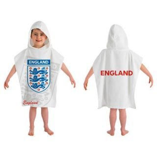 Kids Girls Boys Holiday Beach Swimming Hooded Cotton Poncho Towel