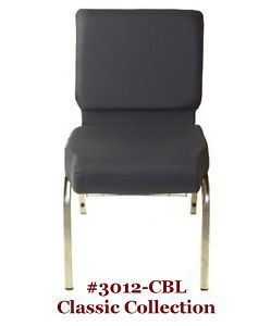 Church Chairs NEW Blue Stackable Classic Collection w Pocket SAVE IN
