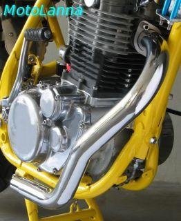 Header Pipe Stainless Steel Swept Back Yamaha SR500 SR400 Cafe Racer